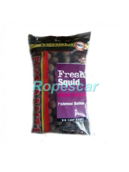 Boilies tare Fresh Squid - Octopus & Black Pepper 20 mm. - Dynamite
