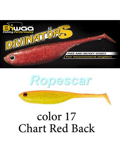 Shad Divinator 10 cm. Chart Red Back - Biwaa